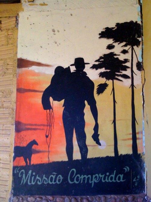 Cartaz às margens da BR 364 em Jacy Paraná foto : J. Costa
