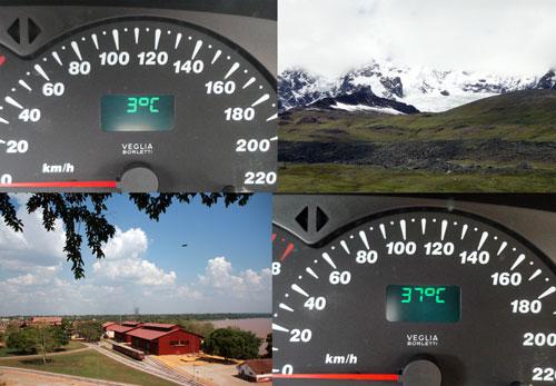 Diferenças de temperatura brutais em poucas horas.