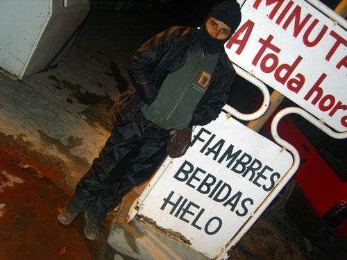 Bahia Blanca : totalmente molhados e com muito frio