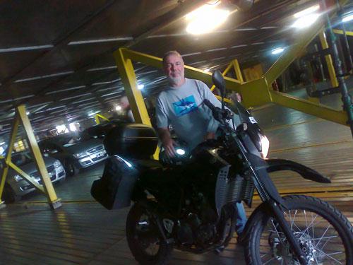 No Buquebus, com todo o espaço do mundo, a única moto