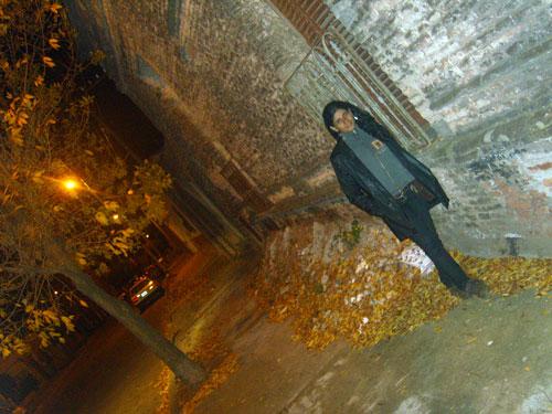 Noite fria nas ruas de Azul